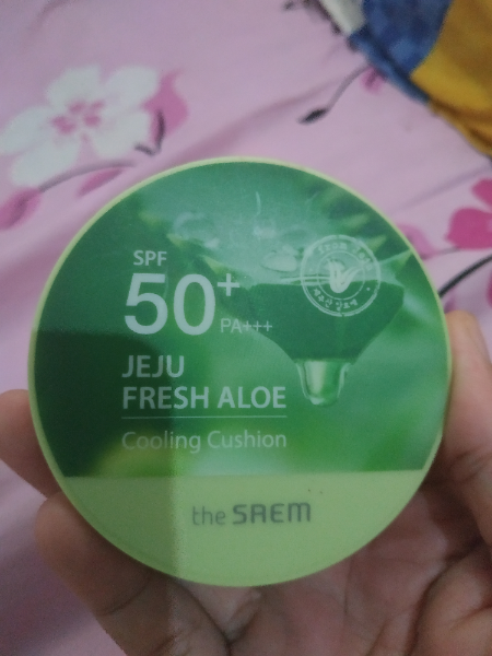 Review The Saem Jeju Fresh Aloe Cooling Cushion Natural Beige